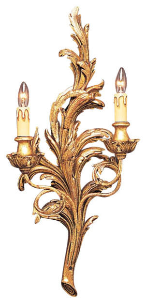 French style sconce with leaf motif - Traditional - Wall Sconces - by Inviting Home Inc