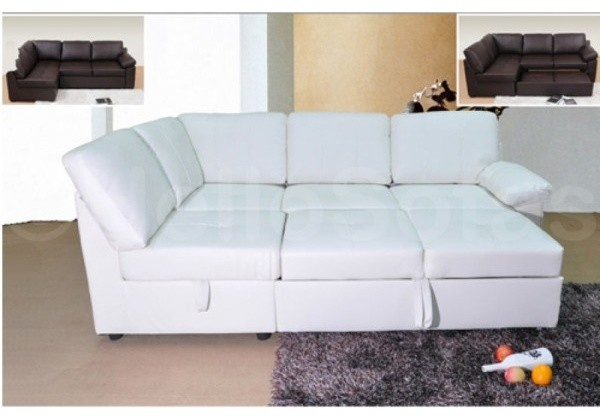 applause white leather sofa bed modern sofas other metro by