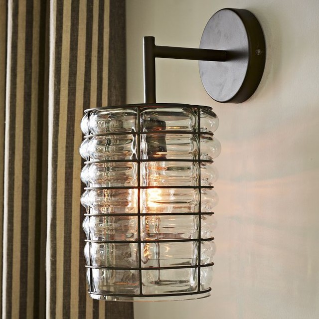 Linear Blown Glass Sconce contemporary-wall-lighting