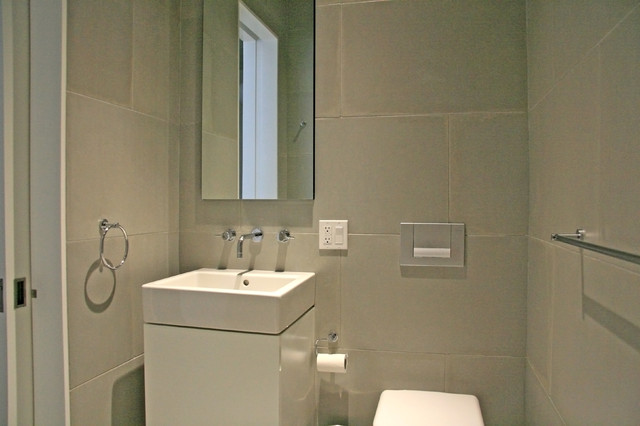 Concrete Wall Panels And Bathroom Floor Modern Tile