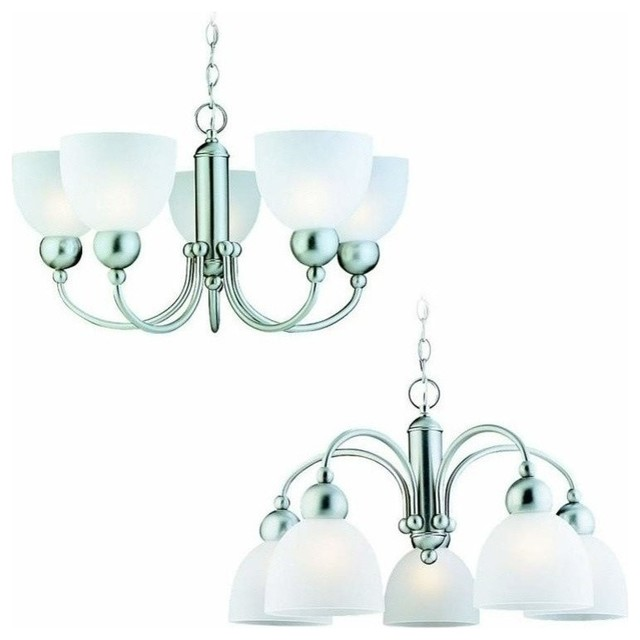 5-Light Chandelier Brushed Nickel contemporary-chandeliers