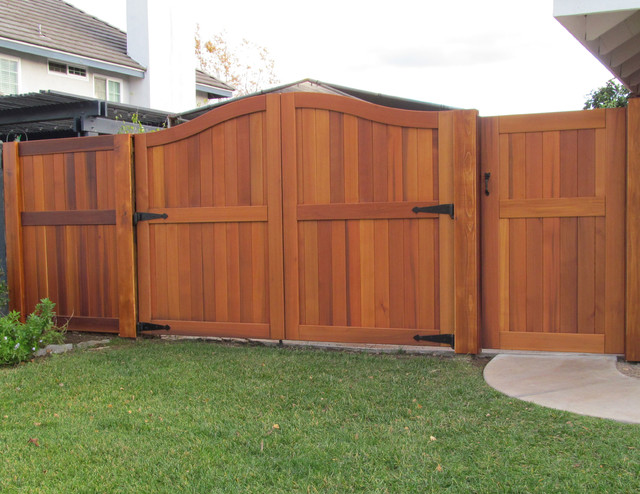 Signature Wood Gates by Sederra traditional-home-fencing-and-gates