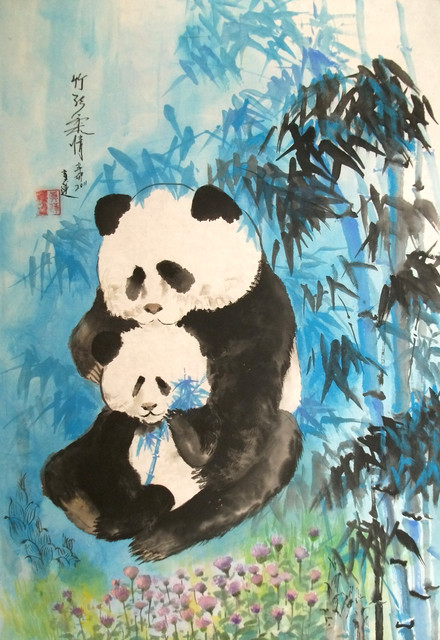 bamboo tenderness asian-artwork