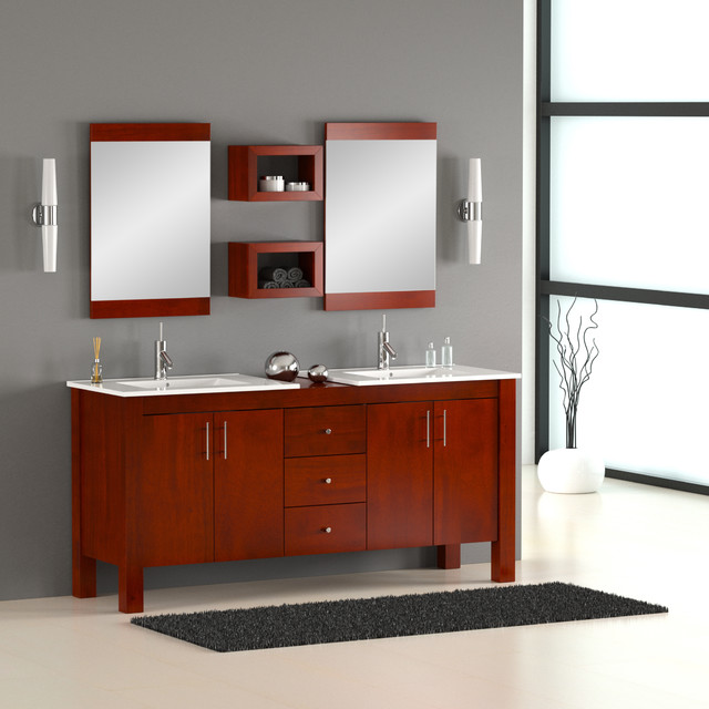72 Double Sink Modern Bathroom Vanity Bathroom Vanities And Sink Cons
