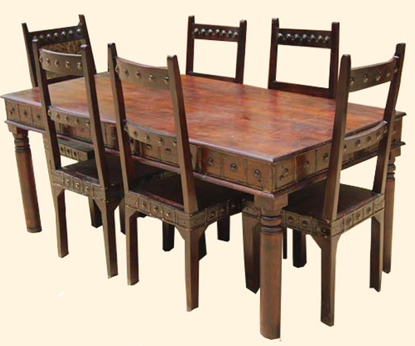 Camelot Mahogany 7pc Dining Table and Chair Set  : traditional from www.houzz.com size 600 x 500 jpeg 66kB