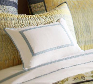 "Morgan Banded 400-Thread-Count Boudoir Pillow Cover, 12 x 16"", Espresso traditional-shams"