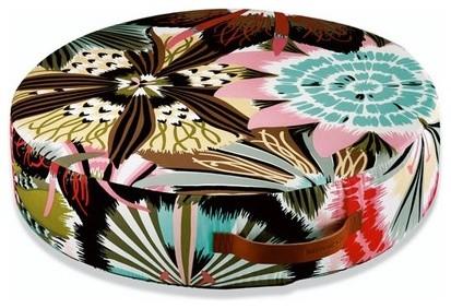 "Alice Round Floor Cushion 27.5"" modern-decorative-pillows"