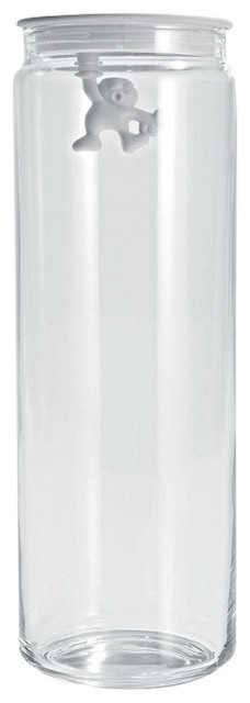 """Alessi """"Gianni"""" Kitchen Glass Box, White modern-food-containers-and-storage"""