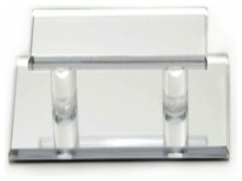 """Richelieu Acrylic Clear Pull Glass Doors 1 3/4 X 5"""" Clear - Contemporary - Cabinet And Drawer ..."""