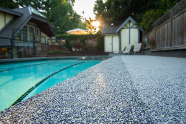 Vancouver Pool Deck Duraroc Rubber Surfacing Traditional