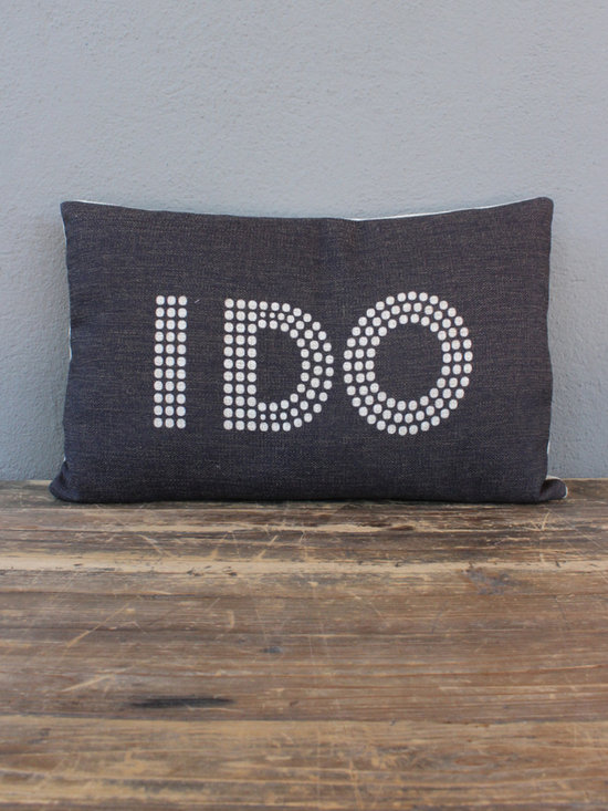 i do pillow - view this item on our website for more information + purchasing availability: http://redinfred.com/shop/category/detail/throw-pillows/i-do-pillow/