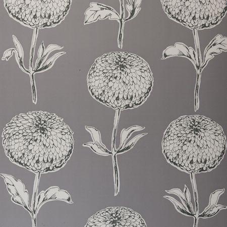 Dahlia Wallpaper by Clarke & Clarke modern-wallpaper