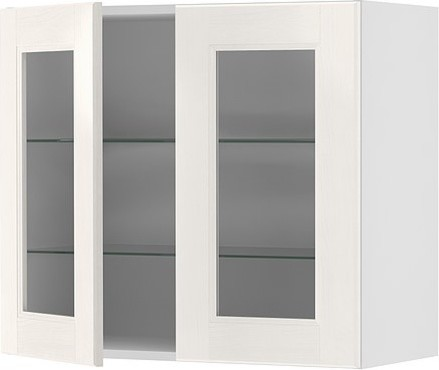 AKURUM Wall cabinet with 2 glass doors - modern - kitchen cabinets ...