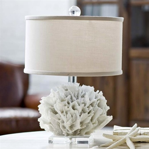 white ribbon coral lamp coastal table lamps by layla grayce. Black Bedroom Furniture Sets. Home Design Ideas