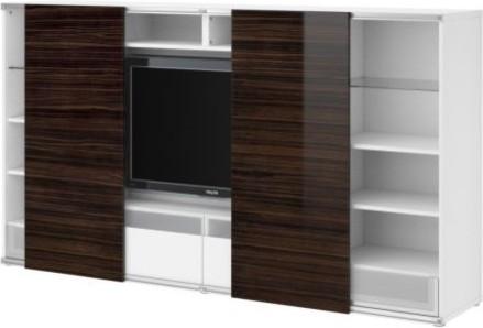 BESTÅ/INREDA TV storage combo with sliding doors - Scandinavian - Entertainment Centers And Tv ...