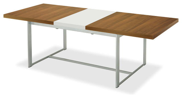 Spice Rectangular Table Walnut White Modern Dining Tables By