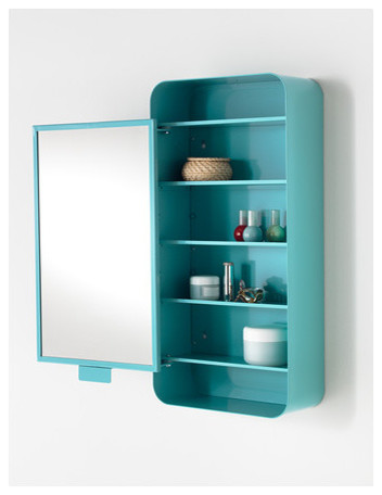 ... Cabinet with 1 Door, Blue - Contemporary - Medicine Cabinets - by IKEA