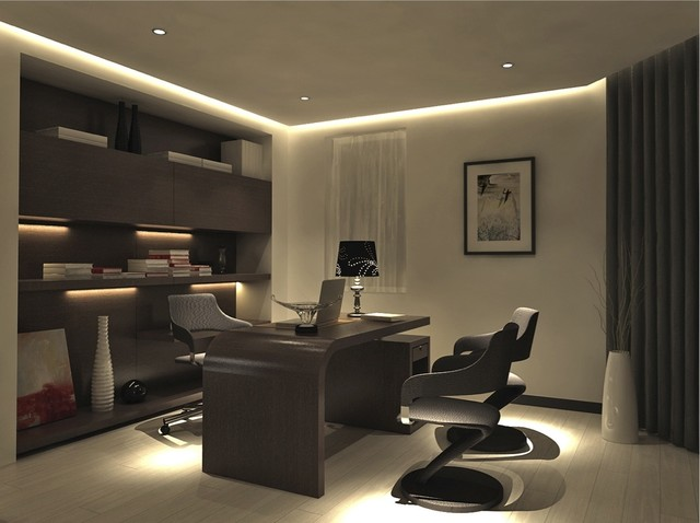 Limitless - 3D designs / Family Room / Living Room modern home office