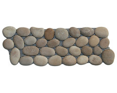 Java Tan Pebble Tile Border rustic-accent-trim-and-border-tile