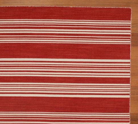 Talia Stripe Dhurrie Rug - Traditional - Rugs - by Pottery Barn