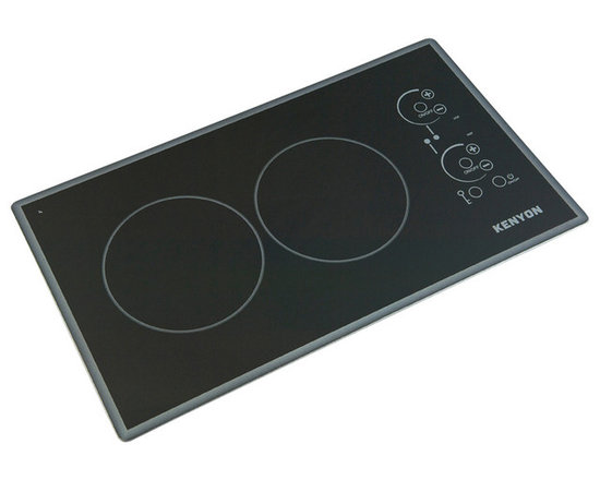 "Kenyon - Lite Touch Q Cortez 2 Burner, 240V - Modernize any kitchen and compliment high end appliances with our Lite-Touch Q® Cortez Series Cooktop. Steel colored graphics provide a sleek and polished look. Precision and simplicity are at the tip of your fingers. Just touch the digital ON/OFF circle to activate the heating elements and set the cooking temperature. (2) 1200W 6.5"" burners."