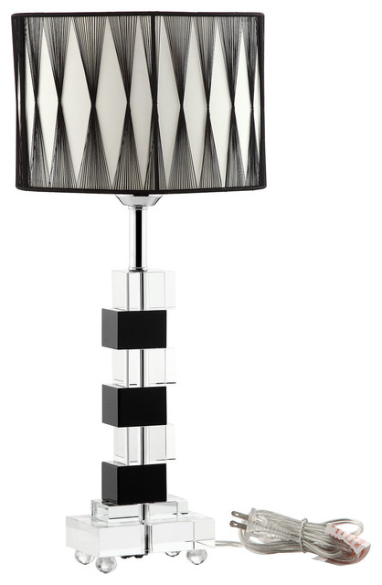 black and white crystal modern table lamp modern table lamps. Black Bedroom Furniture Sets. Home Design Ideas