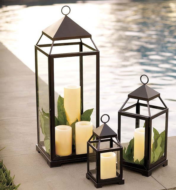 Malta lantern bronze finish traditional candleholders for Outdoor decorative lights