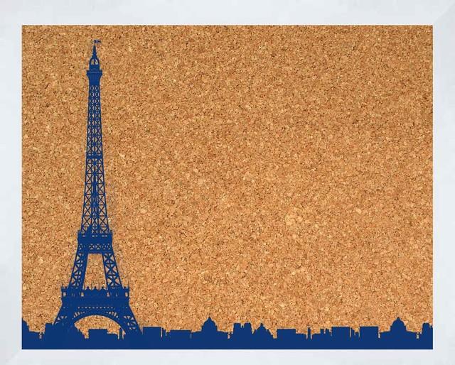 Eiffel tower cork board modern bulletin boards and for Modern cork board