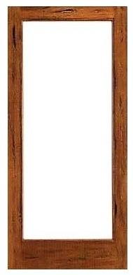 Rustic 1 lite patio solid wood ig glass single door for Solid wood patio doors
