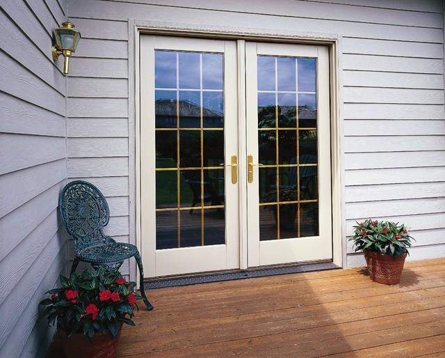 Pella Architect Series Hinged Patio Door traditional-front-doors