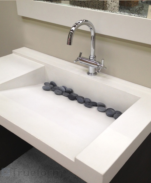 Concrete Ada Custom Sink Contemporary Bathroom Sinks New York By Trueform Concrete