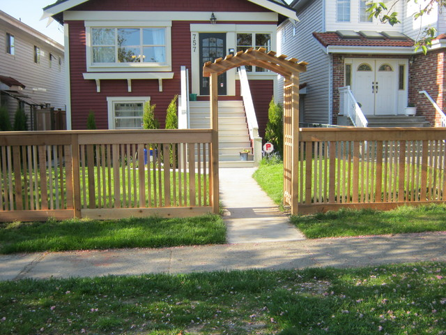 Front yard fence vancouver b c modern other metro - Fence designs for front yards ...