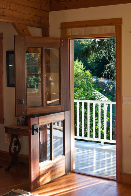 Dutch doors traditional front doors by real carriage for Exterior back doors with glass