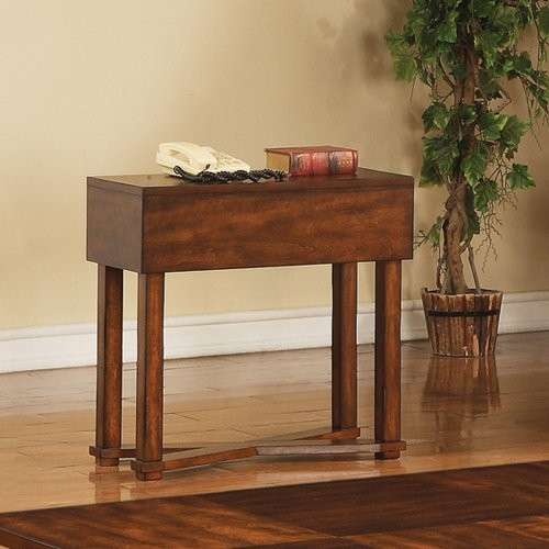 Steve Silver Griffin Rectangular Cherry Wood Chairside End Table modern-dining-tables