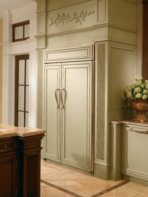 """GE Monogram 48"""" custom panel side-by-side refrigerator - Traditional - other metro - by Monogram ..."""