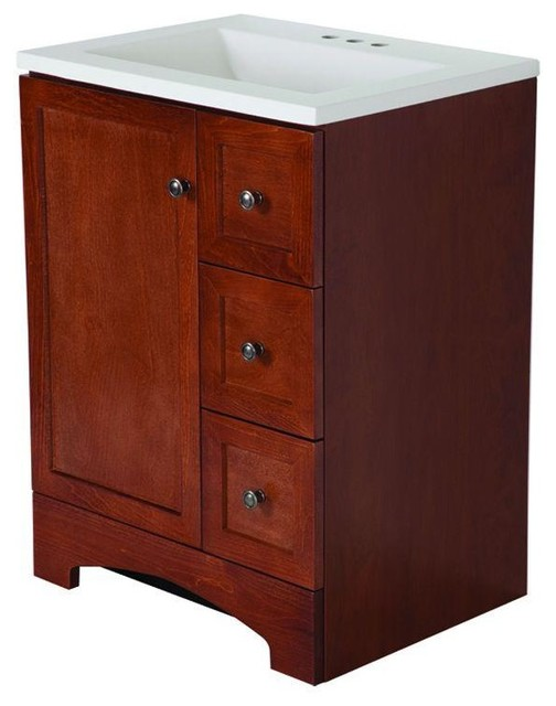 glacier bay bathroom lancaster 24 in vanity in with