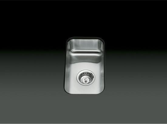KOHLER K-3333-NA Undertone Small Squared Undercounter Kitchen Sink, 5 ...