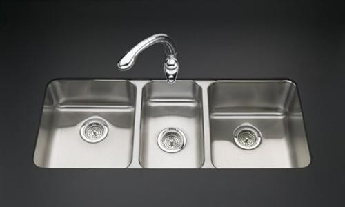 Triple Sink Faucet : Triple-basin Undercounter Kitchen Sink - Contemporary - Kitchen Sinks ...