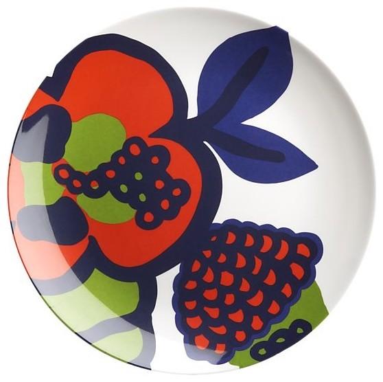 Marimekko Oona Melamine Salad Plate eclectic-dinner-plates