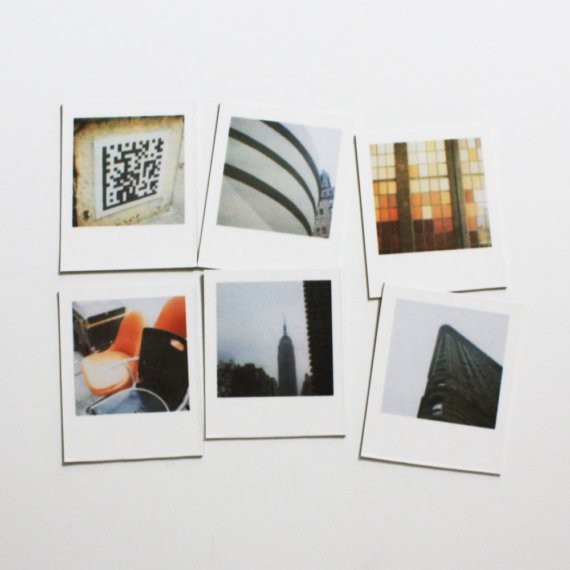 Manhattan Polaroid Magnets by Painted Fish Studio - Contemporary - Home Decor - by Etsy