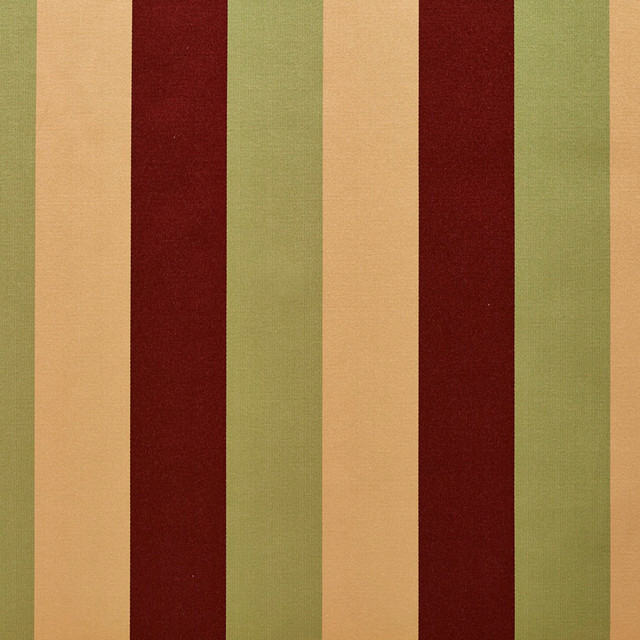 Burgundy Green And Gold Thick Tri Color Stripes