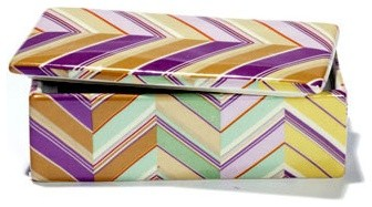 Pastel Chevron Covered Boxes eclectic storage boxes