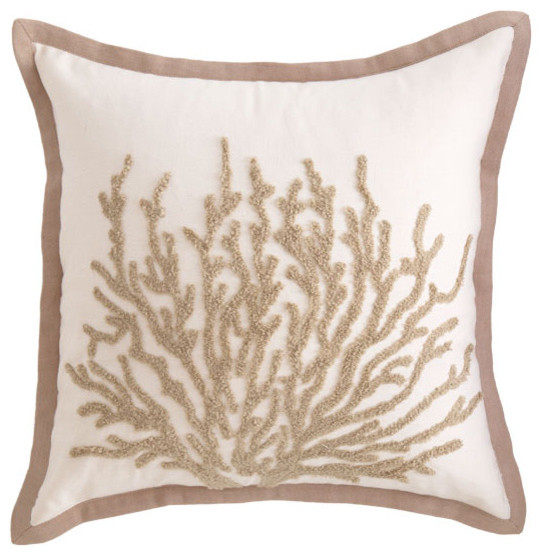 Sea Coral Throw Pillows : Under the Sea Coral Pillow - Traditional - Decorative Pillows - by Wisteria