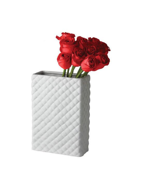 Quilted Ceramics Vase -