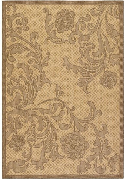 Rose Lattice Natural and Cocoa Outdoor Rug outdoor-rugs