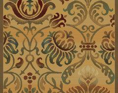 "United Weavers of America Horizons Arabesque Beige 3'11"" x 5'3"" Area Rugs modern-rugs"
