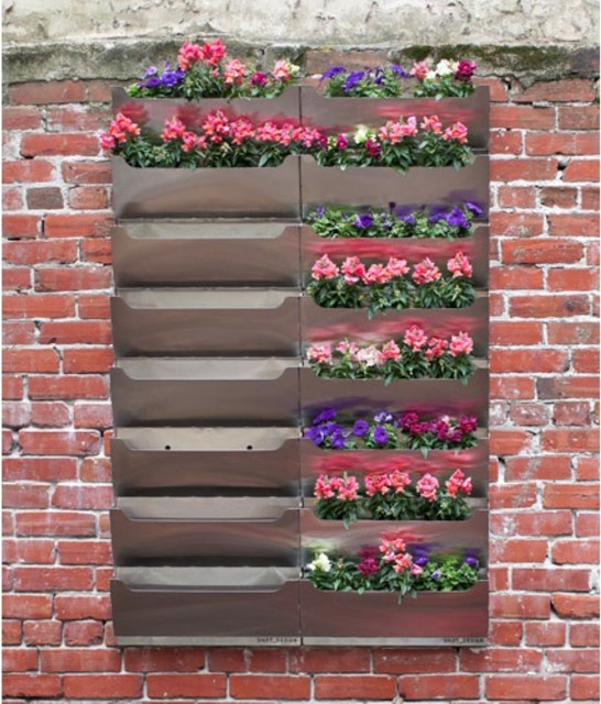 Rectangle Metal Wall Mounted Parkside Living Wall Planter