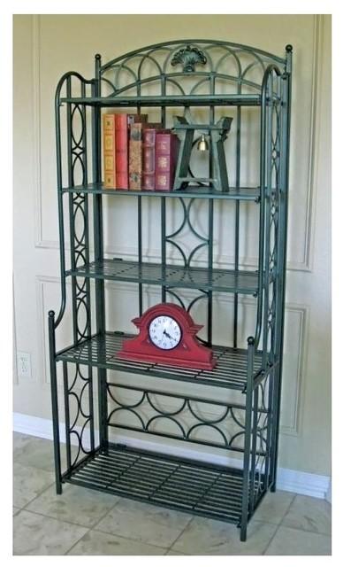 5 shelf indoor outdoor patio baker 39 s rack in contemporary baker 39 s racks by ivgstores. Black Bedroom Furniture Sets. Home Design Ideas