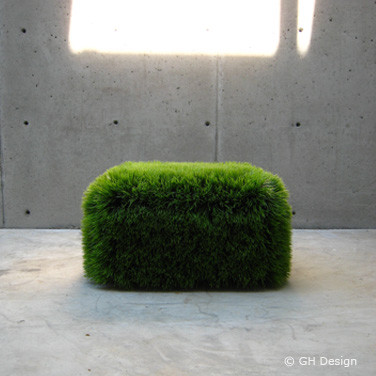 Grass Ottoman by G H Design modern-footstools-and-ottomans