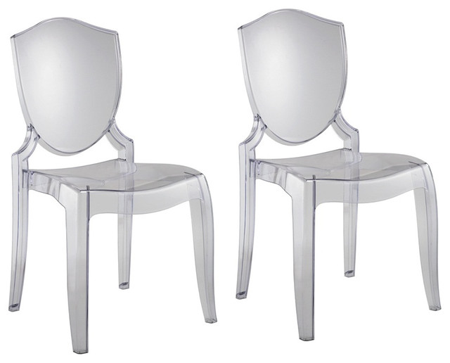 Polycarbonate Crystal Clear Chair Modern Dining Chairs